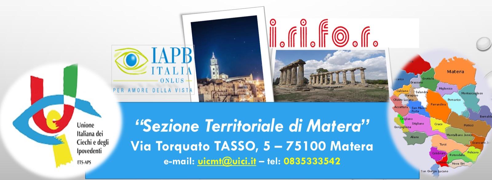 Unione Italiana dei Ciechi e degli Ipovedenti ETS APS Sezione Territoriale di Matera